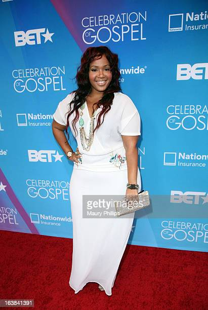 GooGoo Atkins attends the BET Celebration of Gospel 2013 at Orpheum Theatre on March 16 2013 in Los Angeles California