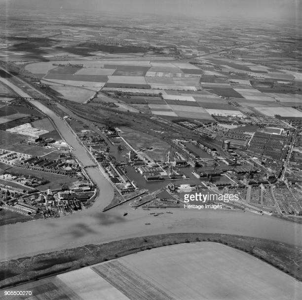 Goole Harbour East Riding of Yorkshire 1949 Artist Aerofilms