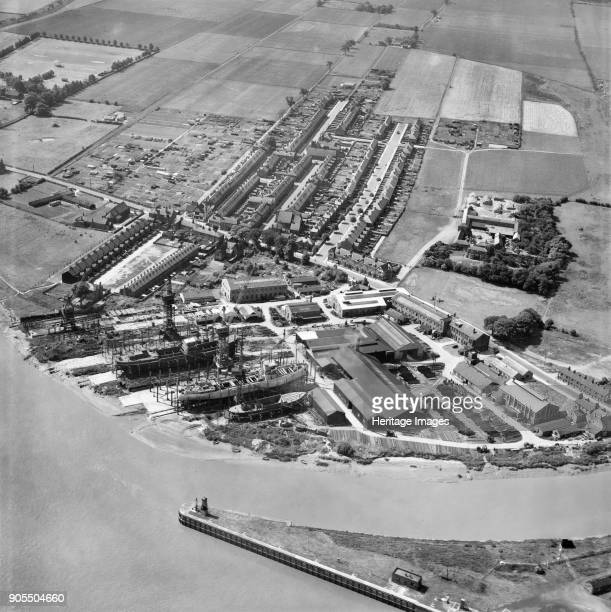 Goole Shipbuilding and Repairing Co Ltd Works Goole East Riding of Yorkshire 1950 Artist Aerofilms