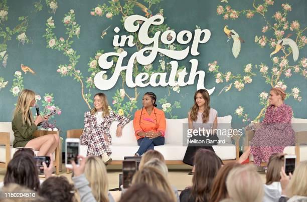 Goop CEO Gwyneth Paltrow, Olivia Wilde, Taraji P. Henson, Jessica Alba and Busy Philipps speak onstage at In goop Health Summit Los Angeles 2019 at...