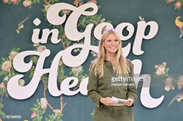 goop CEO Gwyneth Paltrow speaks onstage at In goop Health Summit Los Angeles 2019 at Rolling Greens Nursery on May 18 2019 in Los Angeles California