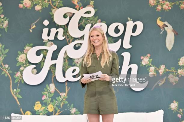 Goop CEO Gwyneth Paltrow speaks onstage at In goop Health Summit Los Angeles 2019 at Rolling Greens Nursery on May 18, 2019 in Los Angeles,...