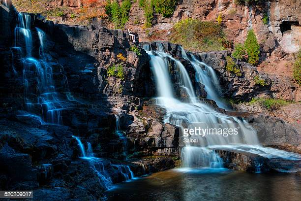 gooseberry falls at state park fall color - duluth minnesota stock pictures, royalty-free photos & images