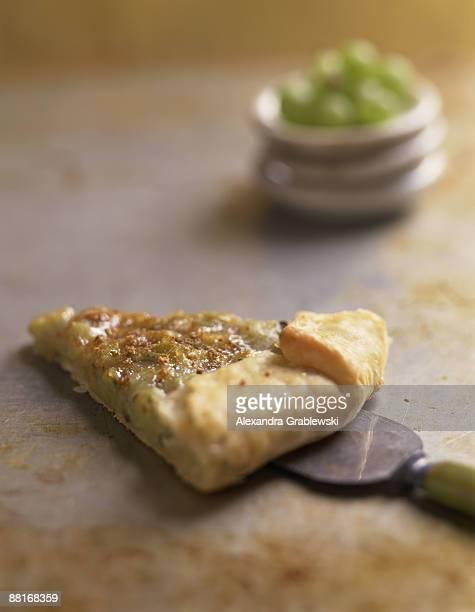 Gooseberry tart slice