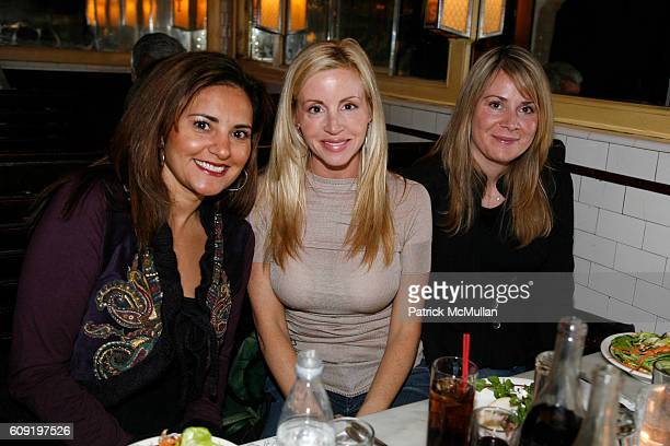 Gopa Dobson Camille Grammer and Nicole Pendarvis attend ALEXA RAY JOEL PreConcert Dinner at Schillers Liquor Bar on February 28 2007 in New York City