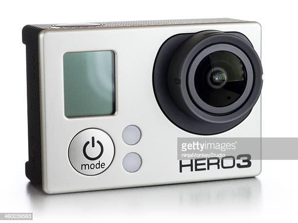 GoPro Hero 3 Action Camera Isolated on White