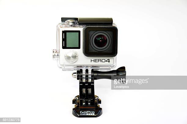 Gopro hero 4 black action camera.