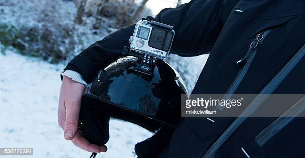 GoPro herói 4 Black Edition montado no Capacete de Esqui