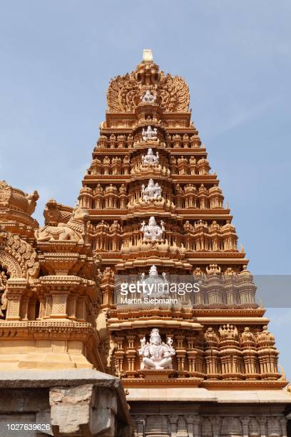 gopura of the nanjundeshwara or srikanteshwara temple, hindu temple, dravidian style, nanjangud, karnataka, south india, india, south asia - {{asset.href}} stock pictures, royalty-free photos & images