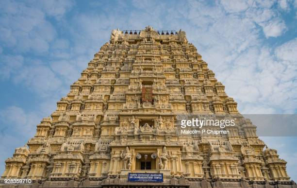 Gopuram (Tower) of Ekambaranathar Temple, dedicated to Lord Shiva, Kanchipuram, near Chennai, Tamil Nadu, India