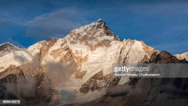 Gorakshep village at sunset, Everest region, Nepal