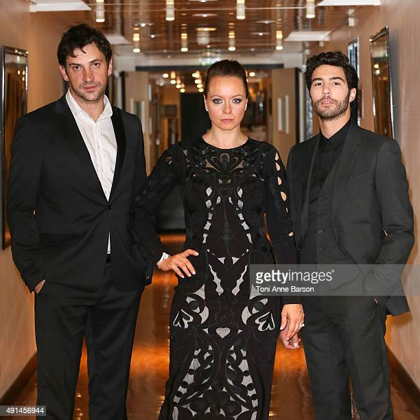 Goran Bogdan Samantha Morton and Tahar Rahim attend an exclusive photo session before the Screening of 'The Last Panthers' at the Palais des...