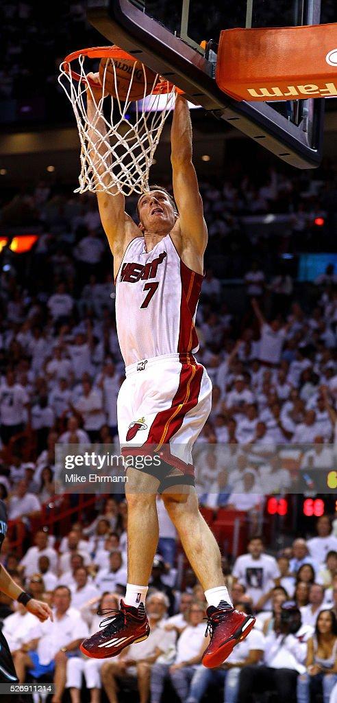 Charlotte Hornets v Miami Heat - Game Seven : News Photo