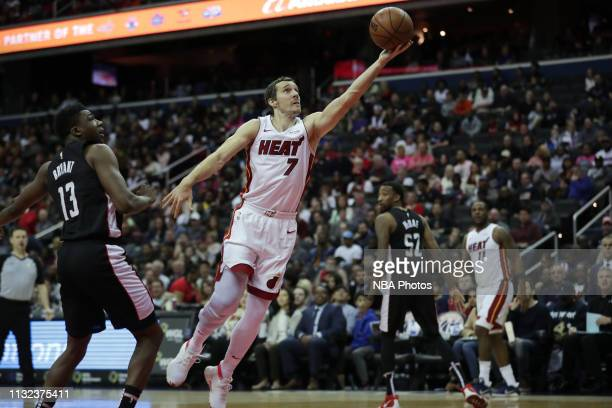 Goran Dragic of the Miami Heat shoots the ball against the Washington Wizards on March 23 2019 at Capital One Arena in Washington DC NOTE TO USER...
