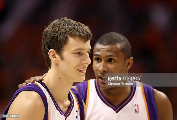 Goran Dragic of the Phoenix Suns in action during Game Six of the Western Conference finals of the 2010 NBA Playoffs against the Los Angeles Lakers...
