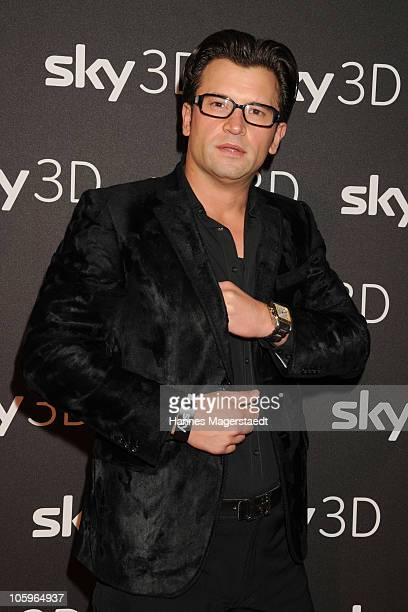 Goran Munizaba attends the Sky 3 D broadcasting presentation with Kiefer Sutherland at New Sky Headquarters on October 22 2010 in Munich Germany