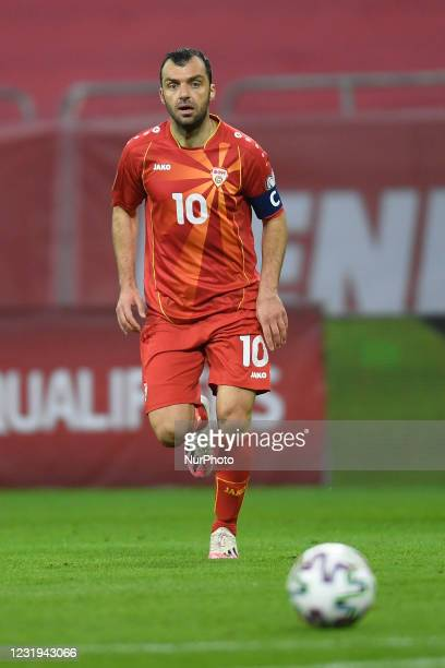 Goran Pandev during the FIFA World Cup Qatar 2022 qualification football match Romania v North Macedonia in Bucharest, on March 25, 2021.