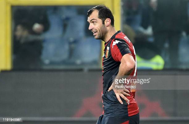 Goran Pandev of Genoa CFC at the end of Serie A match between Genoa CFC and US Sassuolo at Stadio Luigi Ferraris on January 5, 2020 in Genoa, Italy.