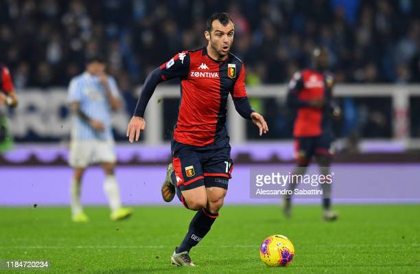 Goran Pandev of Genoa CFC in action during the Serie A match between SPAL and Genoa CFC at Stadio Paolo Mazza on November 25 2019 in Ferrara Italy