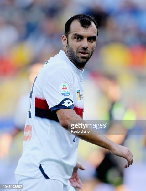 Goran Pandev of Genoa CFC looks on during the Serie A match between Frosinone Calcio and Genoa CFC at Stadio Benito Stirpe on September 30 2018 in...