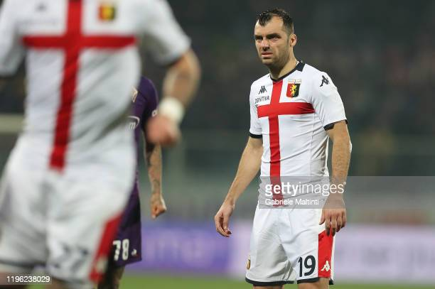 Goran Pandev of Genoa CFC looks on during the Serie A match between ACF Fiorentina and Genoa CFC at Stadio Artemio Franchi on January 25, 2020 in...