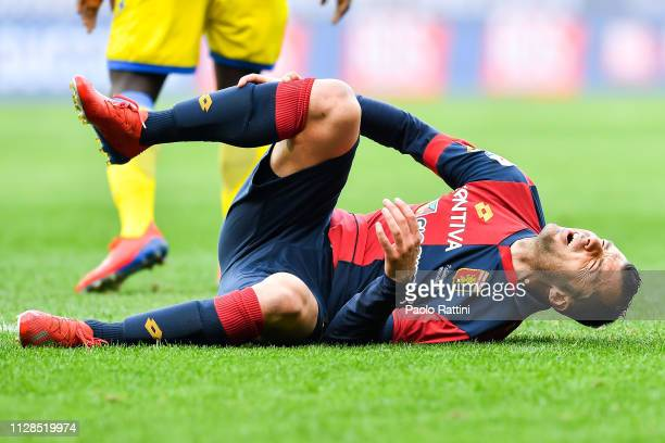 Goran Pandev of Genoa on the pitch during the Serie A match between Genoa CFC and Frosinone Calcio at Stadio Luigi Ferraris on March 3 2019 in Genoa...