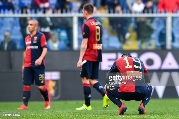 Goran Pandev of Genoa reacts with disappointment after the Serie A match between Genoa CFC and Frosinone Calcio at Stadio Luigi Ferraris on March 3...