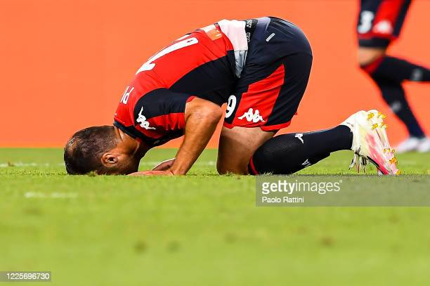 Goran Pandev of Genoa reacts with disappointment during the Serie A match between Genoa CFC and SSC Napoli at Stadio Luigi Ferraris on July 8 2020 in...