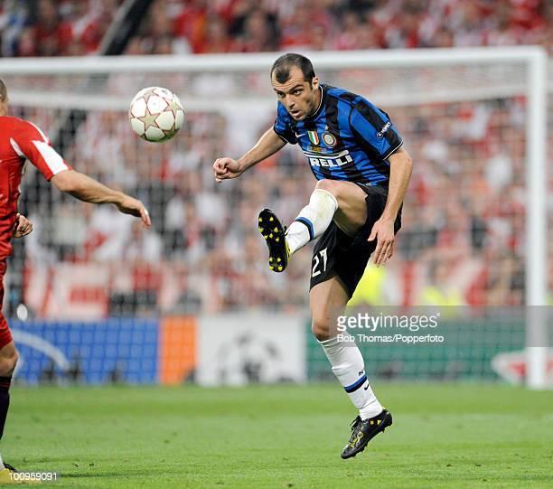 Goran Pandev of Inter Milan during the UEFA Champions League Final match between Bayern Munich and Inter Milan at the Estadio Santiago Bernabeu on...