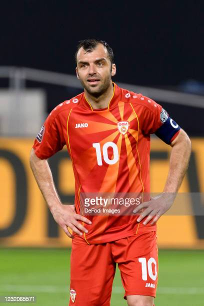 Goran Pandev of North Macedonia looks on during the FIFA World Cup 2022 Qatar qualifying match between Germany and North Macedonia on March 31, 2021...