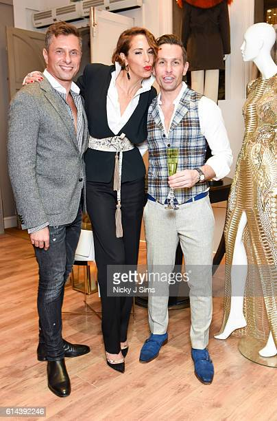 Goran Svilar Vanessa Arelle and Ali Samli attend the ConSept Charity Shopping Event in London at ConSept King's Road on October 13 2016 in London...