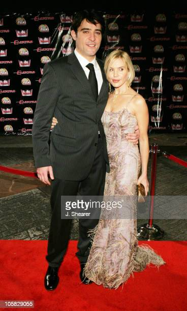 Goran Visnjic and Ivana Visnjic during Elektra Las Vegas Premiere Arrivals at The Palms Hotel and Casino in Las Vegas Nevada United States
