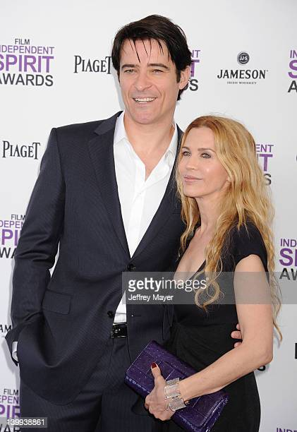 Goran Visnjic and Ivana Vrdoljak arrive at the 2012 Film Independent Spirit Awards at Santa Monica Pier on February 25, 2012 in Santa Monica,...