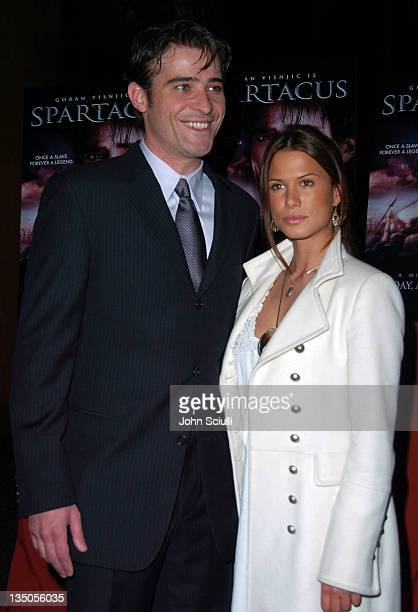 """Goran Visnjic and Rhona Mitra during USA Network's """"Spartacus"""" World Premiere - Red Carpet Arrivals at Director's Guild of America in Los Angeles,..."""
