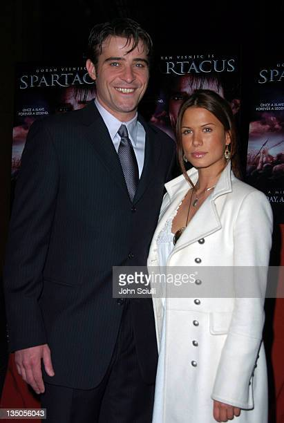 Goran Visnjic and Rhona Mitra during USA Network's Spartacus World Premiere Red Carpet Arrivals at Director's Guild of America in Los Angeles...
