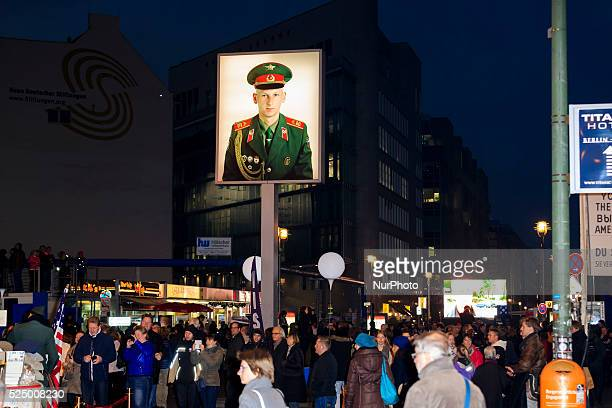 Gorbatschow visits Checkpoint Charlie in Berlin 25 Years after the Down of the Berliner Wall on November 07th 2014 in Berlin Germany / Picture images...