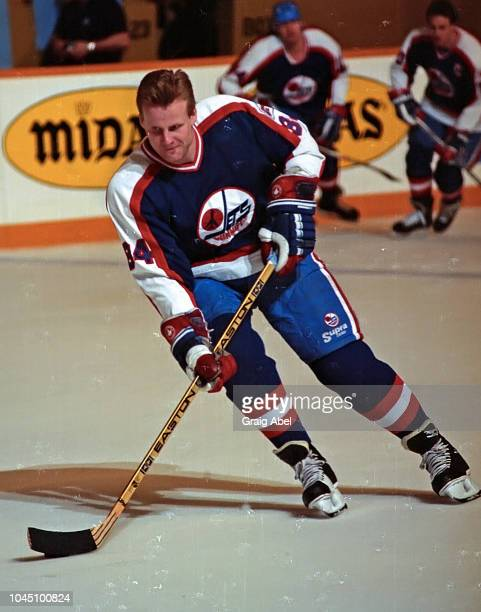 Gord Donnelly of the Winnipeg Jets skates against the Toronto Maple Leafs during NHL game action on March 17 1990 at Air Canada Centre in Toronto...
