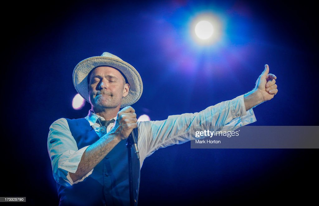 Gord Downie of The Tragically Hip performs on Day 8 of the RBC Royal Bank Bluesfest on July 11, 2013 in Ottawa, Canada.