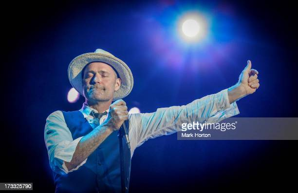 Gord Downie of The Tragically Hip performs on Day 8 of the RBC Royal Bank Bluesfest on July 11 2013 in Ottawa Canada