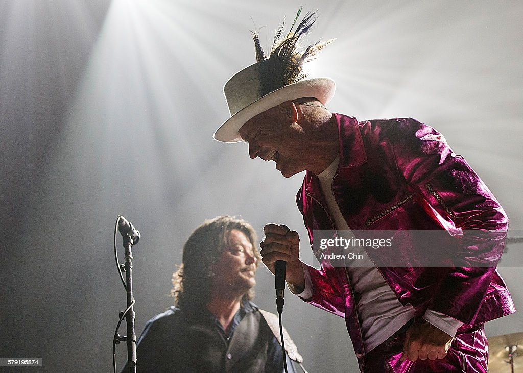 Gord Downie of The Tragically Hip performs onstage during their 'Man Machine Poem Tour' opener at Save On Foods Memorial Centre on July 22, 2016 in Victoria, Canada.