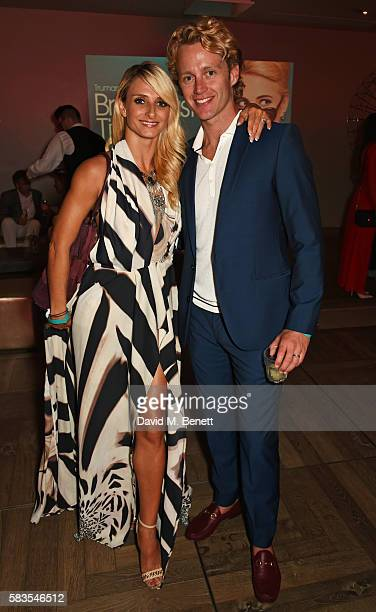 Gordana Grandosek and Trent Whiddon attend the press night after party for 'Breakfast at Tiffany's' at the The Haymarket Hotel on July 26 2016 in...