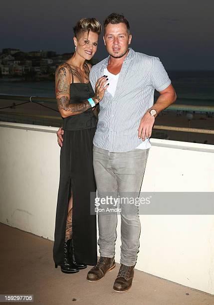 Gordana Willesee and Jason Roberts arrive at Flickerfest Australian Short Film Festival opening night at Bondi Beach on January 11 2013 in Sydney...