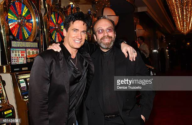 Gordie Brown and Bernie Yuman during Barry Manilow's Opening Night of His New Show Music and Passion Red Carpet Arrivals at The Las Vegas Hilton in...