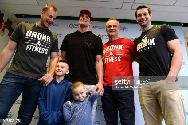 Gordie Gronkowski Jr Rob Gronkowski Gordy Gronkowski and Dan Gronkowski pose for a picture with Jacob and Joey at Boston Children's Hospital on...