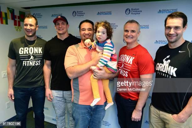 Gordie Gronkowski Jr Rob Gronkowski Gordy Gronkowski and Dan Gronkowski pose for a picture with Ayla and Dad at Boston Children's Hospital on...