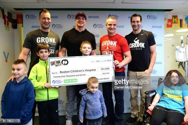Gordie Gronkowski Jr Rob Gronkowski Gordy Gronkowski and Dan Gronkowski present a check from 'Gronk Nation' at Boston Children's Hospital on February...