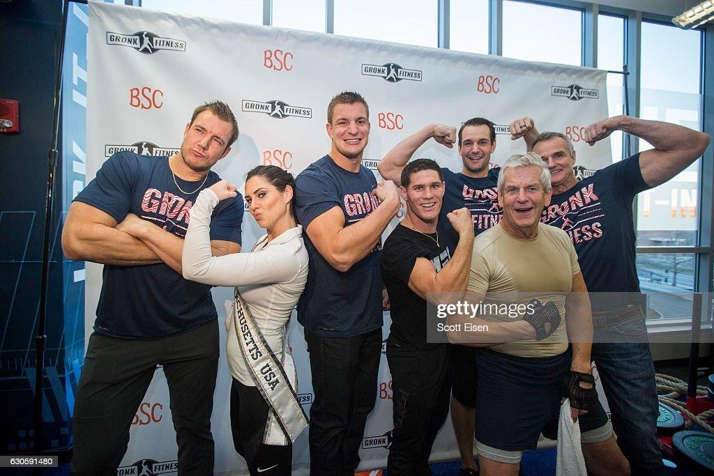 Boston Sports Clubs Partners with Pro Football Star Rob Gronkowski to Spearhead New Fitness Program : News Photo