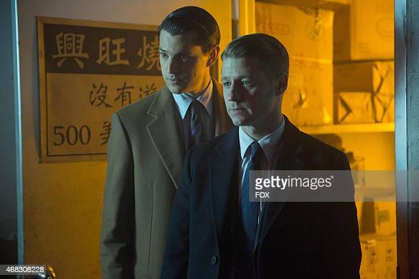 Gordon and Dent investigate a lead in the 'Everyone Has A Cobblepot' episode of GOTHAM airing Monday March 2 on FOX