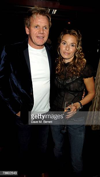 Gordon and Tana Ramsay attend private party at Ronnie Scott's hosted by Gary Farrow on March 15 2007 in London England