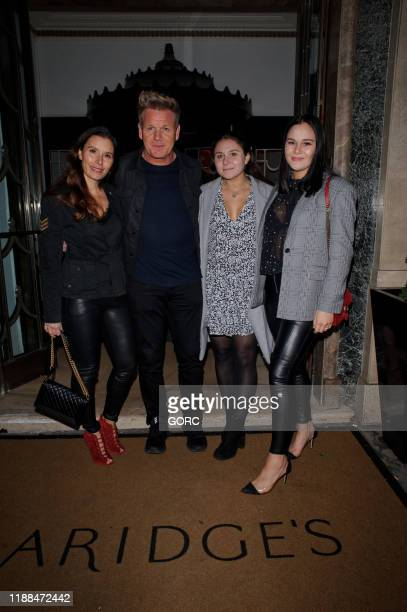 Gordon and Tana Ramsey seen arriving at Claridge's hotel for the Shop Wear Care Gala fundraiser with their daughters Megan and Matilda on November 18...